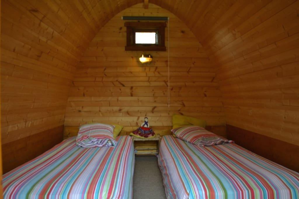 Intérieur de la Cabane-Pod Interior of the Cabin-Pod