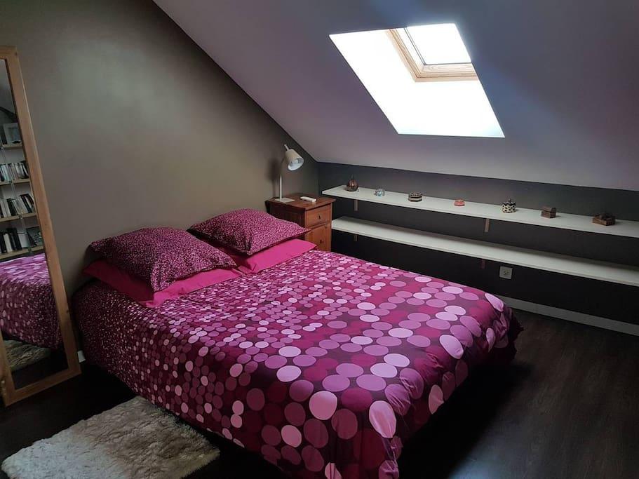 La chambre en configuration 2 pers (lit 140)