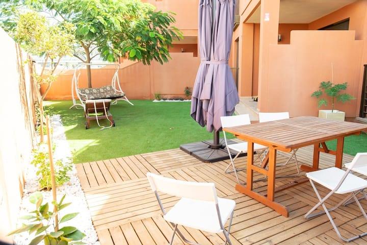 La Tejita, El Médano, private garden