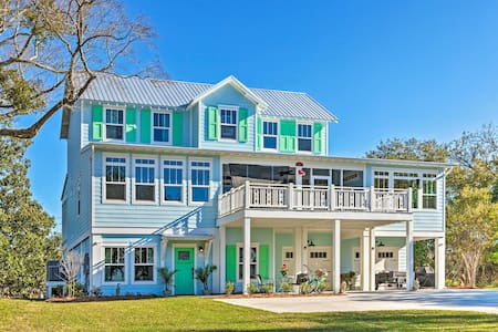 Harbor Oaks Haven: Walk to Front Beach & Downtown!