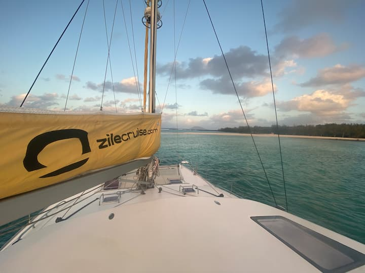 CATAMARAN EN JOURNEE PRIVATIVE 9h - 16h