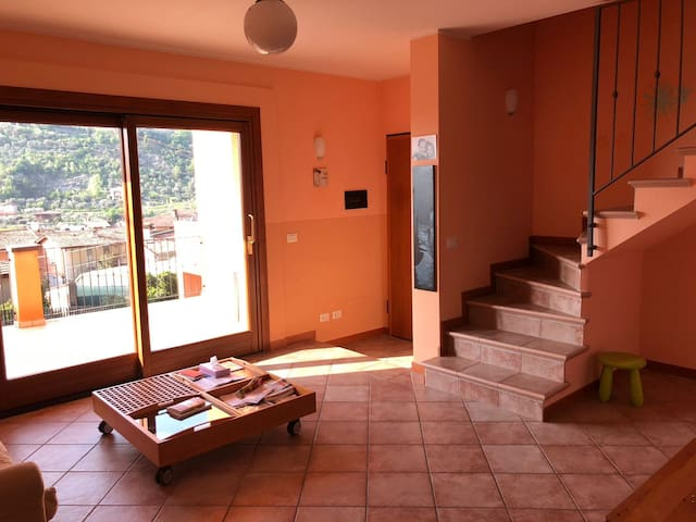Maisonette apartment with full view on Lake Iseo