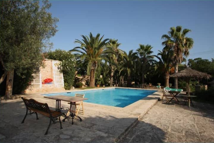 Beautiful Apartment Can Llorenç with Mountain View, Wi-Fi, Terrace, Garden & Pool; Parking Available, Pets Allowed upon Request
