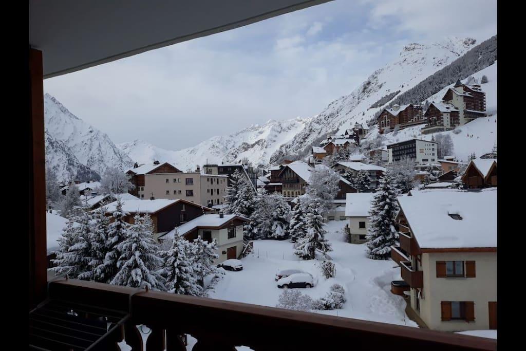 vue du balcon en hiver (janvier 2018)
