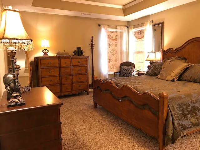 Comfortable & cozy master bedroom