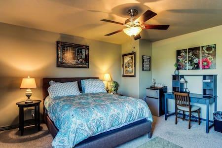 Master Bedroom, bath, + liv. room S2