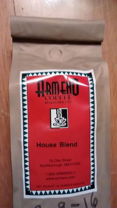 Serving local coffee roaster Armeno's House Blend every morning.