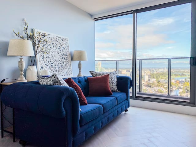 Oceanview Southbank apt close to Crown#3 Free Park