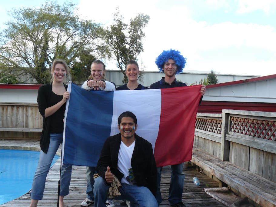 Getting ready for the French vs All Blacks game 2011