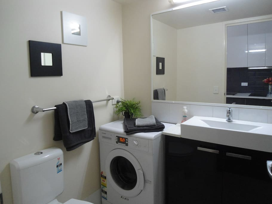 Bathroom with a washer