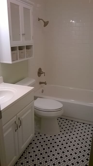 Newly remodeled private bathroom
