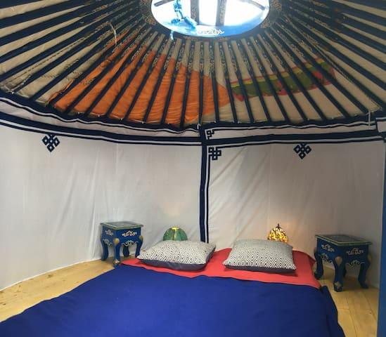 Inside yurta