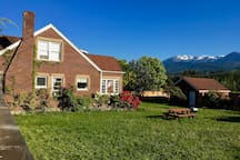 A large yard on a double lot with awesome mountain views!