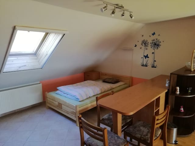 Comfy studio in family house near the city center