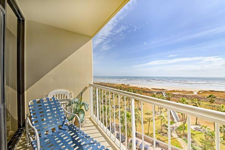 NEW! 1BR Galveston Beach View Condo w/Pool Access!