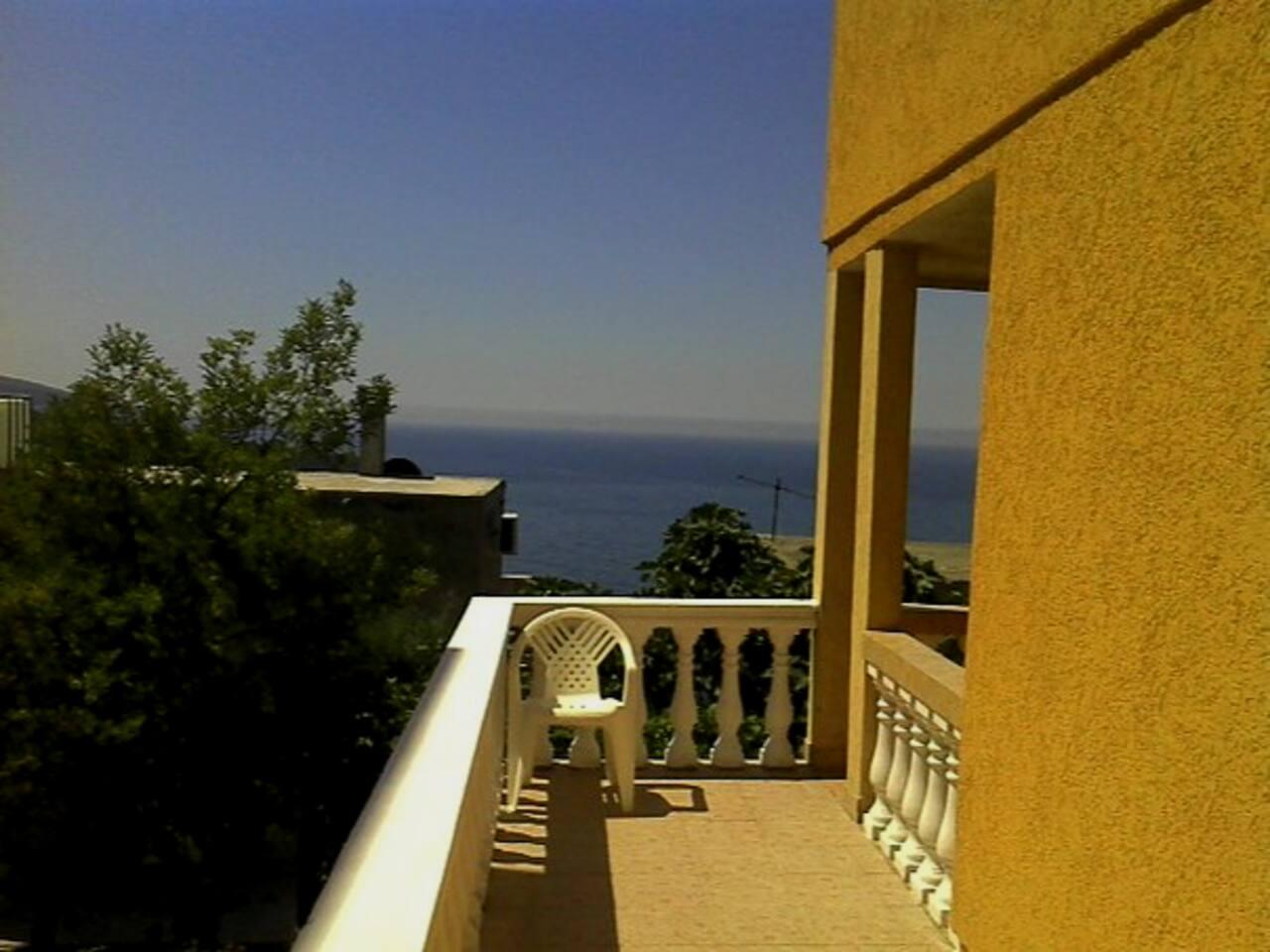 Вид на море от нашего дома