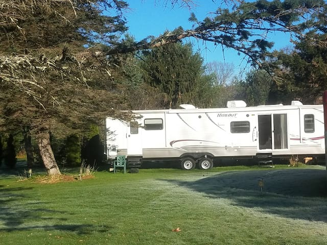 Country camper, may be unavailable in the winter.