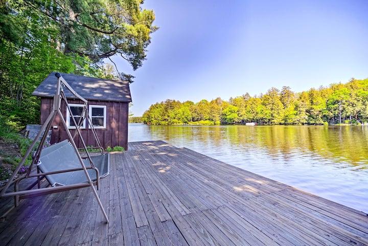 Lakefront Adirondacks Cabin w/Dock & Fire Pit
