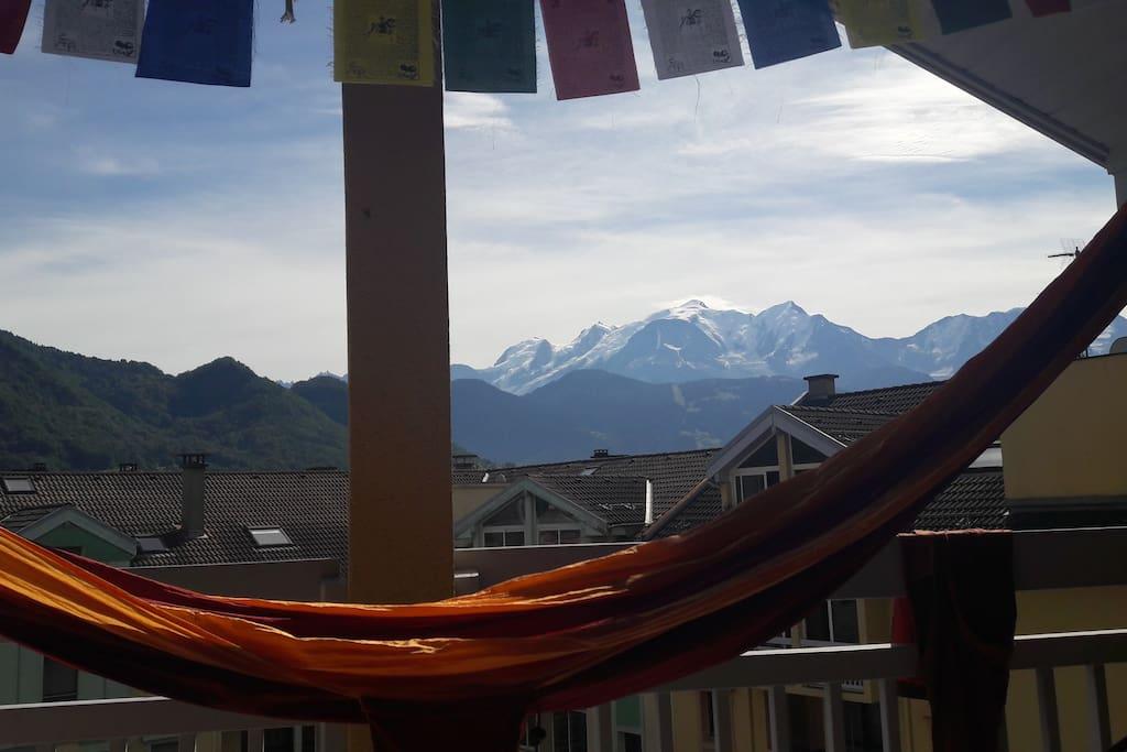 Big balcony with view