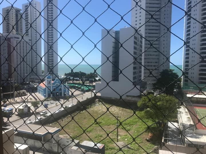 Flat Mobiliado em Boa Viagem com vista para o mar