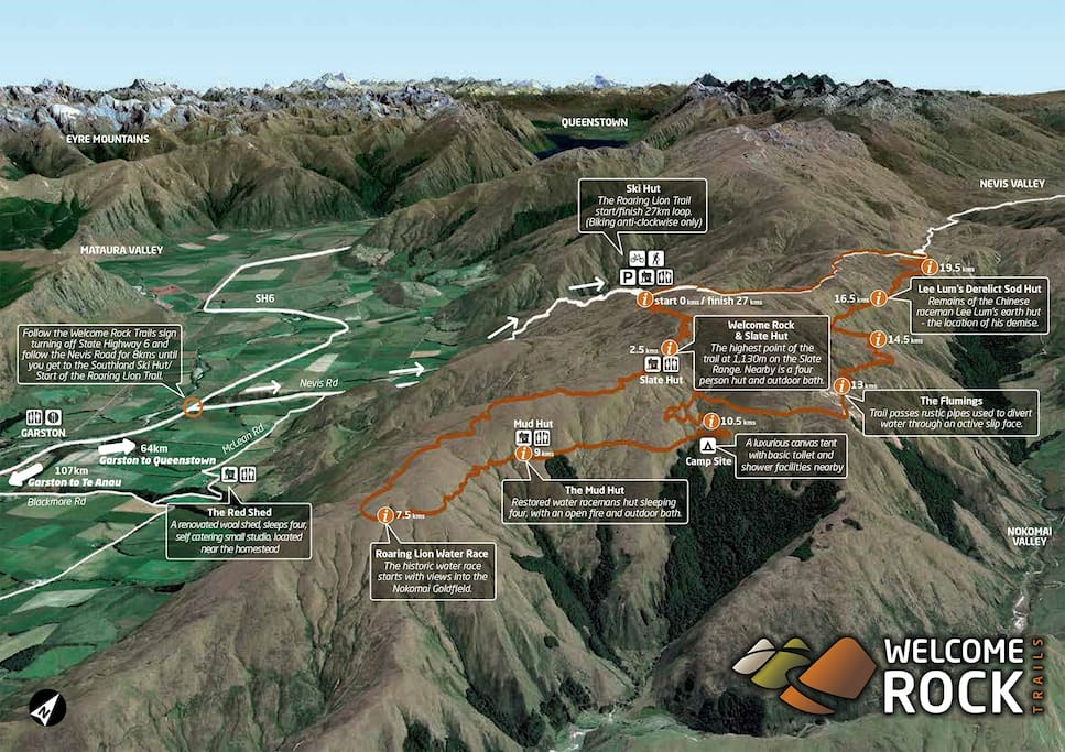 Welcome Rock Trails Map