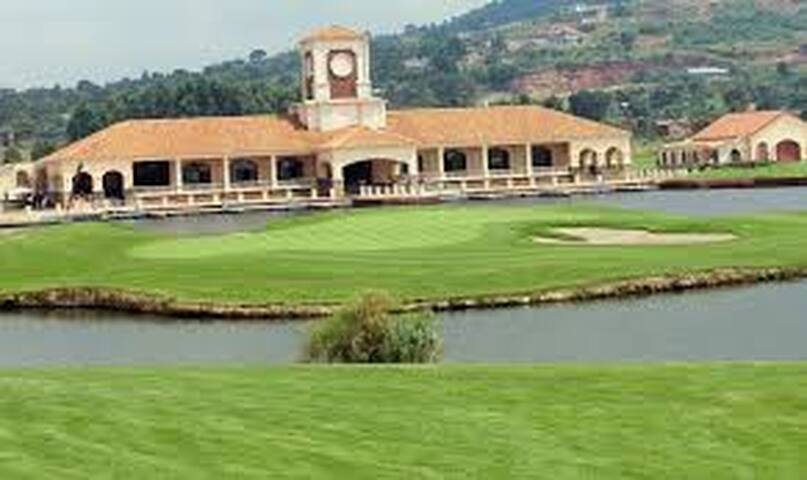Play Golf in the Lake Victoria Serena Golf Resort which is a five star hotel just 3 minutes from the house.  (courtesy of hotel)