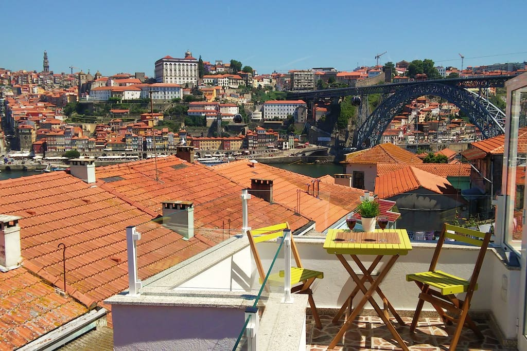 View of Porto from the terrace