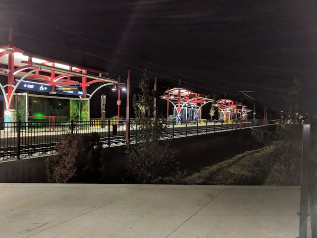 Light rail station < 0.2 miles from house
