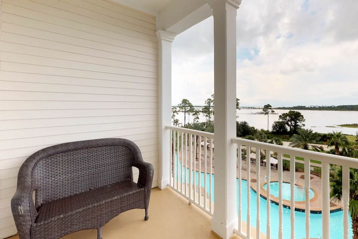 Bayview condo with shared pool, hot tub, and private balcony!