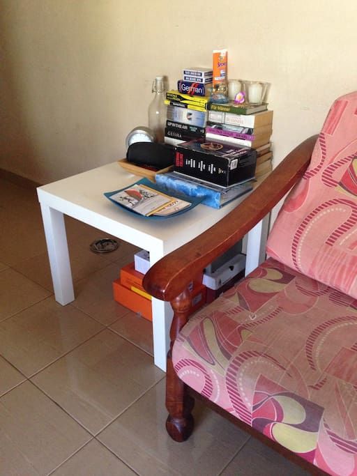 Some books, travel guides/maps and also tourist information at our living area