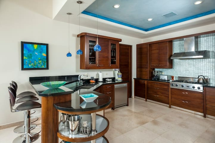 The Kitchen with luxury appliances