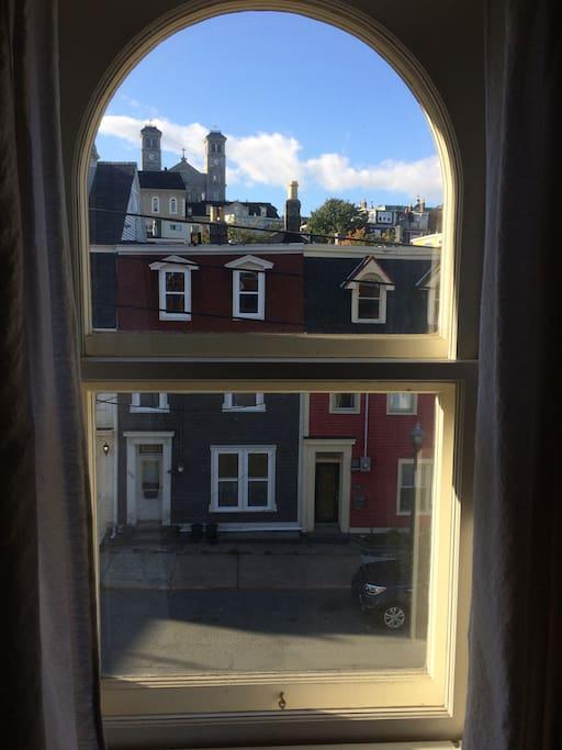 View from the third-floor bedroom