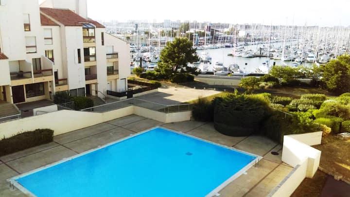 Appartement avec balcon vue sur Port des Minimes