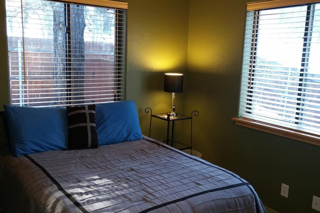 Plenty of natural light, or close the blinds to sleep in