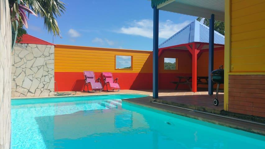 Villa caribbean charme créole piscine et plages