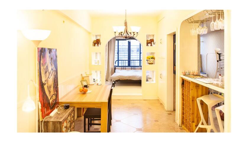 南京南站5分钟,双地铁,50平豪装美式整屋,可做饭,双龙大道地铁旁 - 南京市 - Wohnung