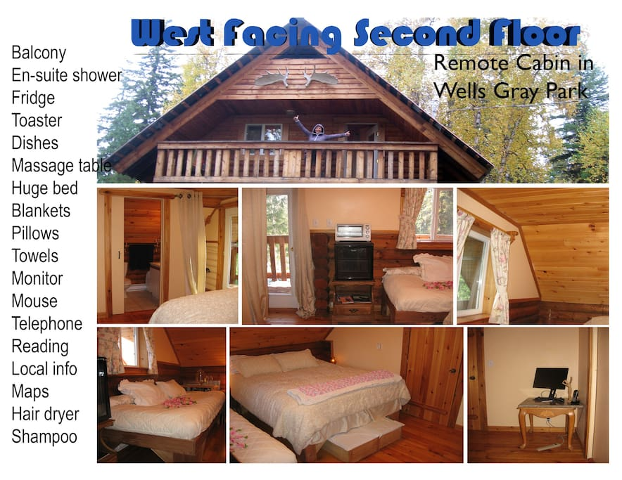 Bed And Breakfast Wells Gray Park : Sunset view remote cabin near wells gray park chalets