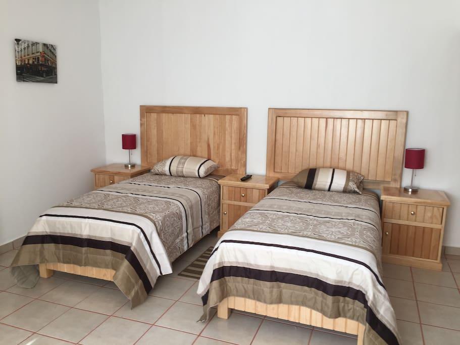 Habitación doble, camas gemelas