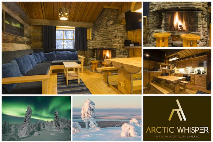 Arctic Whisper 3 -High class log cabin at Ylläs