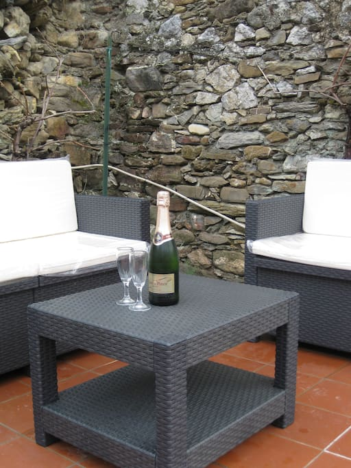 Enjoy a glass of prosecco!