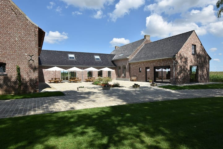 Spacious Holiday Home with Pond in Poperinge