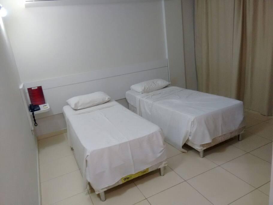 Suite particular - 2 camas solteiro ou a junção formando casal