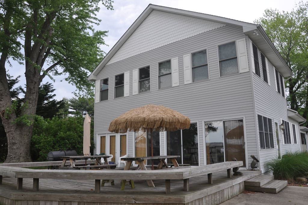 Kent island beach house ii sitting on dock of bay houses for Kent island homes