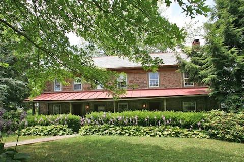 Bucks County Stone Farmhouse on farm estate