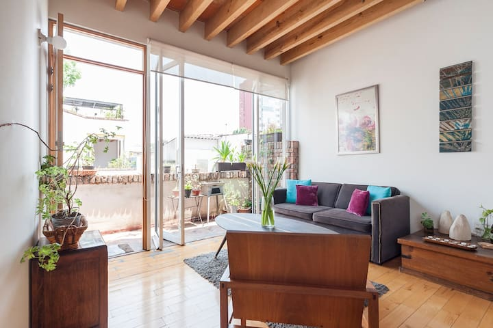 Cozy apartment in hart Condesa-Roma - Mexiko-Stadt - Wohnung
