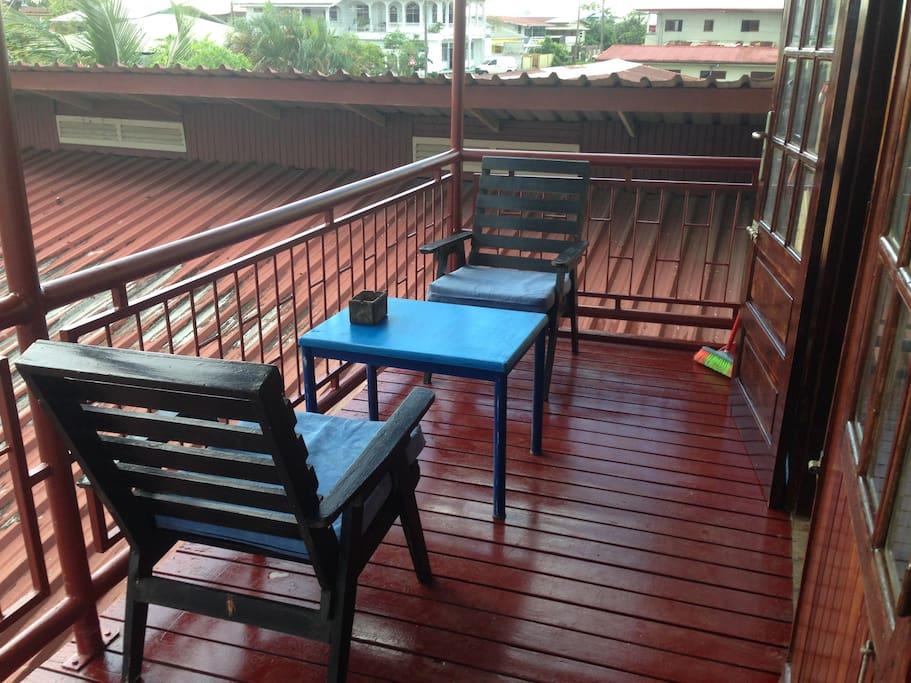 balcony with sunscreen