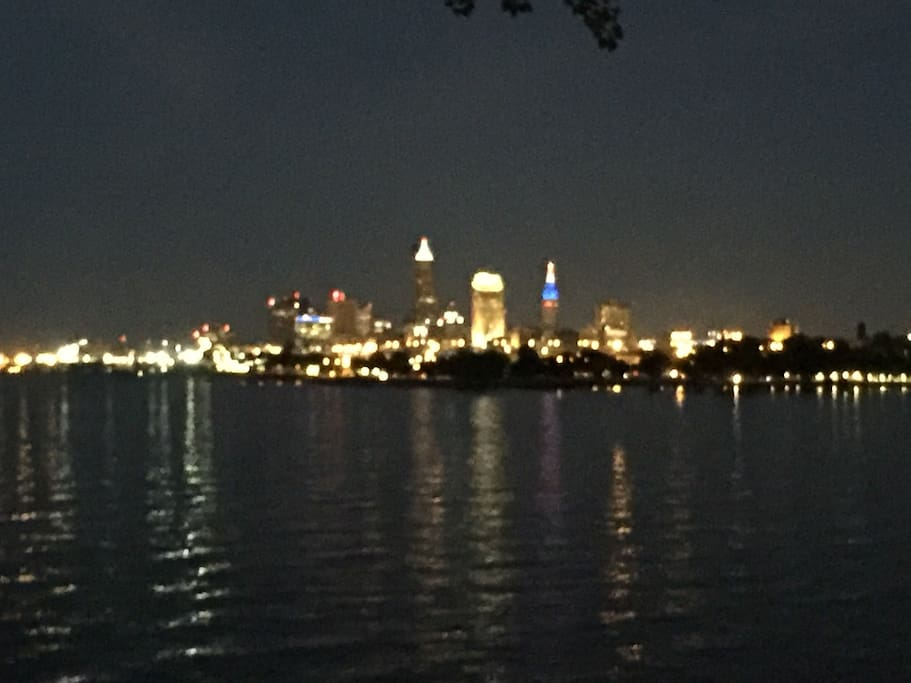 Our fabulous Cleveland skyline from nearby park
