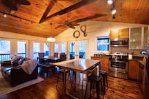 Everything you need to enjoy your stay at the Cashiers Creekside Cottage
