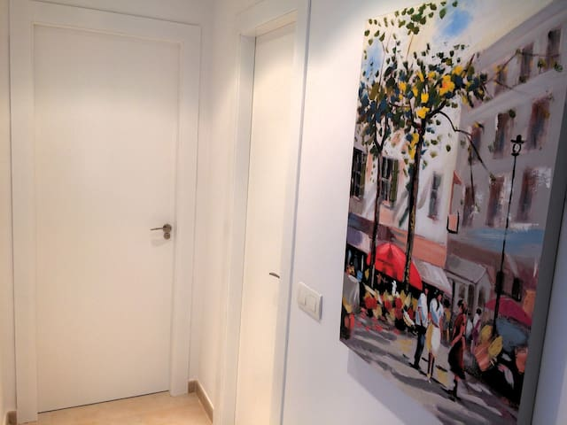 Eingangsbereich der Ferienwohnung in Marbella.