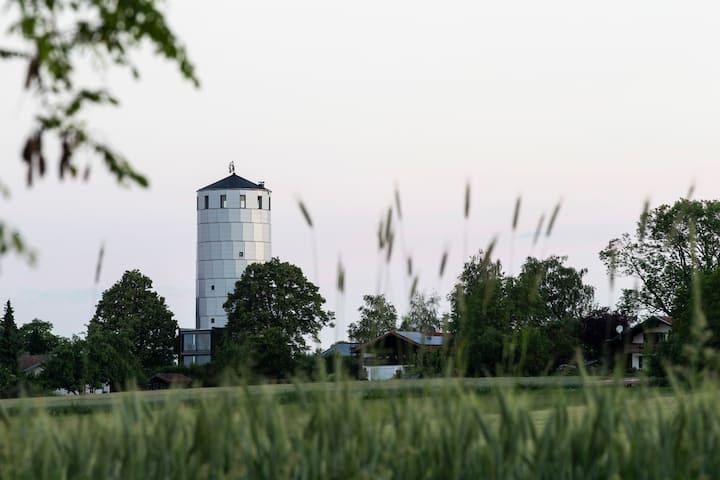 Wasserturm Pirach | Chiemgau . Architektur . Berge